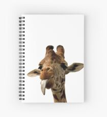 Giraffe with Cute Tongue! Spiral Notebook