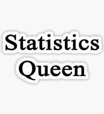 Statistics Queen  Sticker