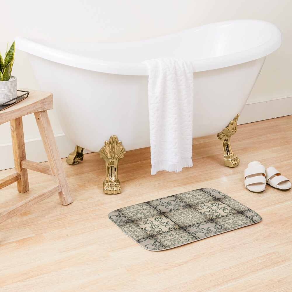 Vintage tiles Bath Mat