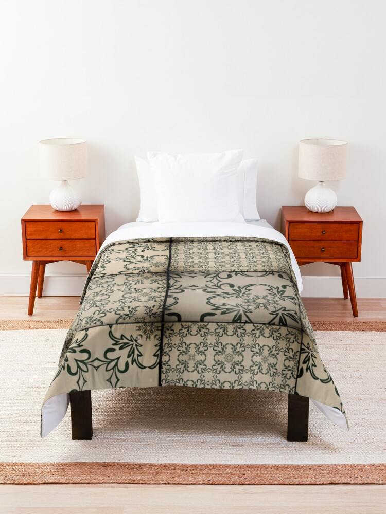 Alternate view of Vintage tiles Comforter