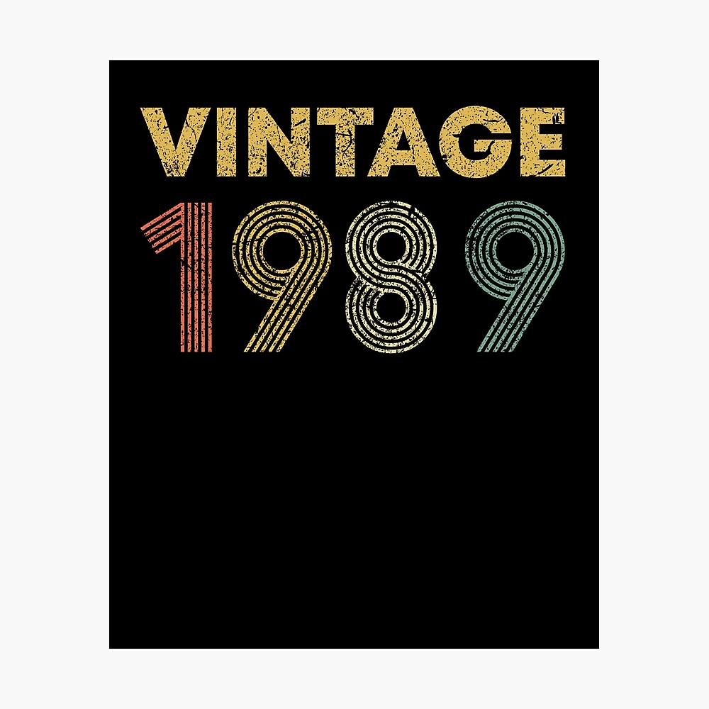 1989-32nd Birthday Poster 32 Years Ago Back in 1989 PERSONALIZED Printable File #9262 Sign with Photo Banner USA Version 32nd Gift