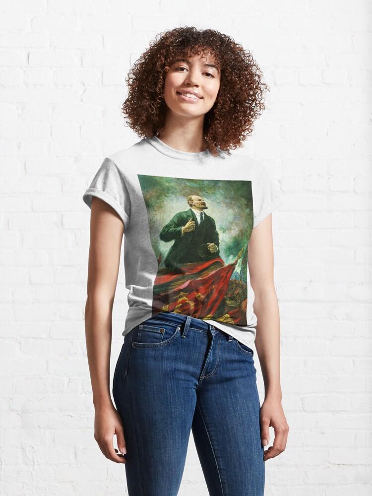 Alternate view of Александр Герасимов. Ленин на трибуне, 1930, Музей В.И.Ленина, г. Москва Classic T-Shirt