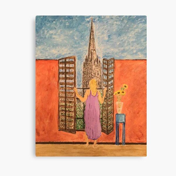 A Sunny Spire Canvas Print