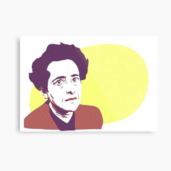 Hannah Arendt Impression métallique