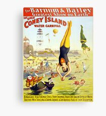 Vintage Coney Island Circus Water Carnival Metal Print