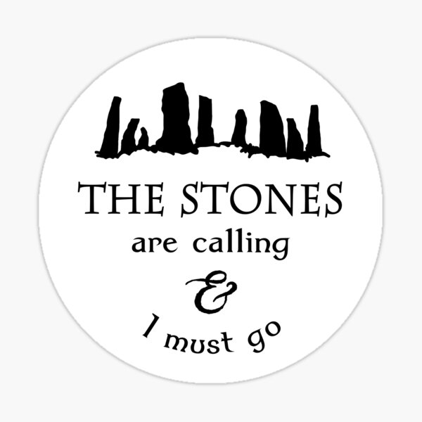 The Stones are Calling Sticker