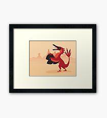 Vainglorious Velociraptor Framed Print
