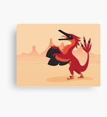 Vainglorious Velociraptor Canvas Print
