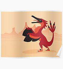 Vainglorious Velociraptor Poster
