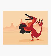 Vainglorious Velociraptor Photographic Print
