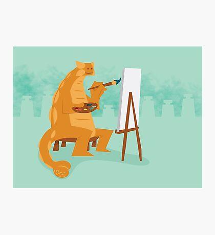 Artistic Ankylosaurus Photographic Print