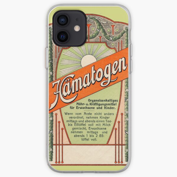 Vintage Circular German Drug Label iPhone Soft Case