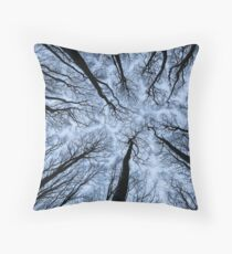 In between trees Throw Pillow