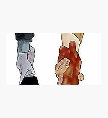 Frodo and Sam Holding Hands Photographic Print