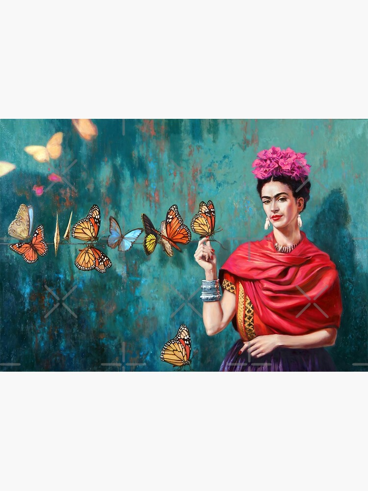 Frida and butterflies by music-box