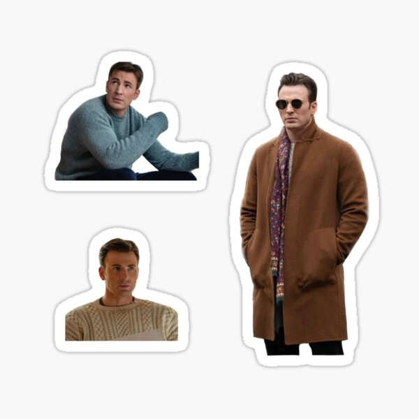 chris evans in knives out pack Sticker