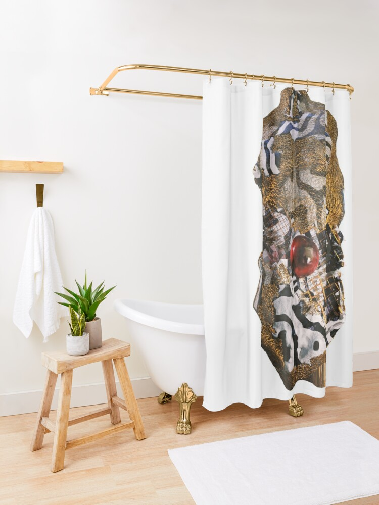 Alternate view of ABSTRACT TORSO Shower Curtain