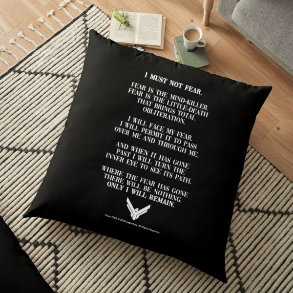 Litany Against Fear Dune 2020 Quote Floor Pillow