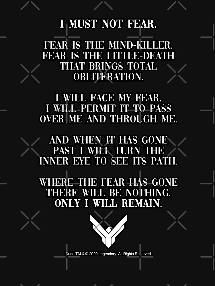 Litany Against Fear Dune 2020 Quote by Merch-On