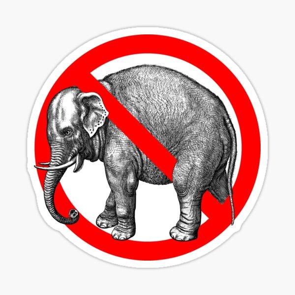 Not Republican - Elephant Sticker