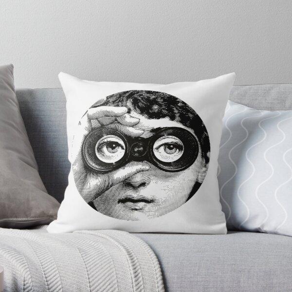 Lina Cavalieri binoculars Pop Art Fornasetti girl Throw Pillow