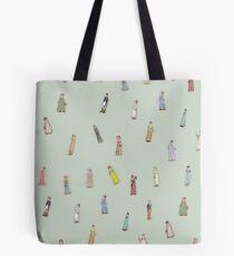 Jane Austen characters - green Tote Bag