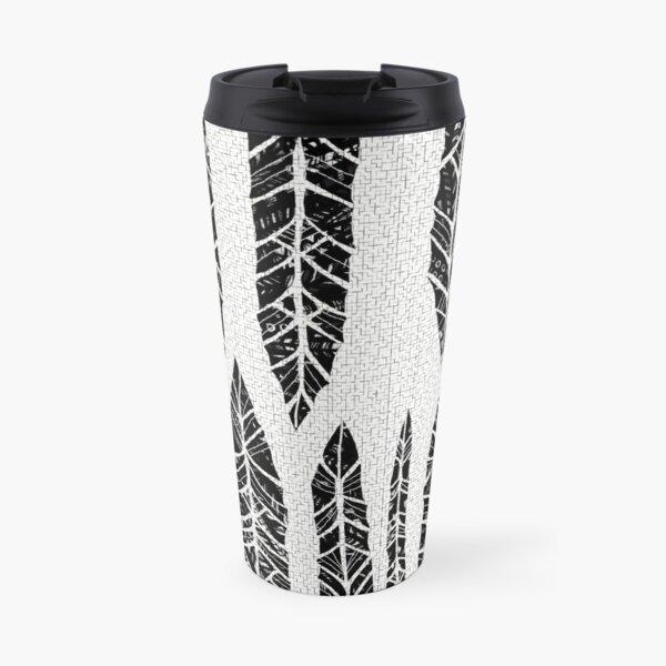 Black and white tribal feathers Travel Mug