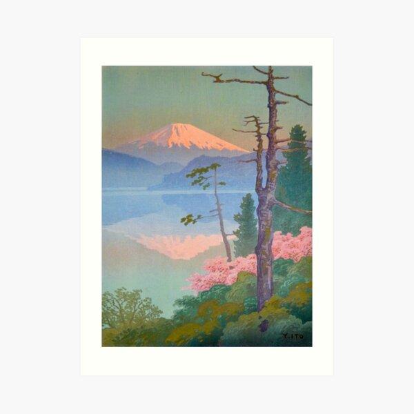 Mount Fuji from Taganoura, Ito Yuhan  Vintage Art Japanese Woodblock Print East Asian Art Cultural Art Art Print
