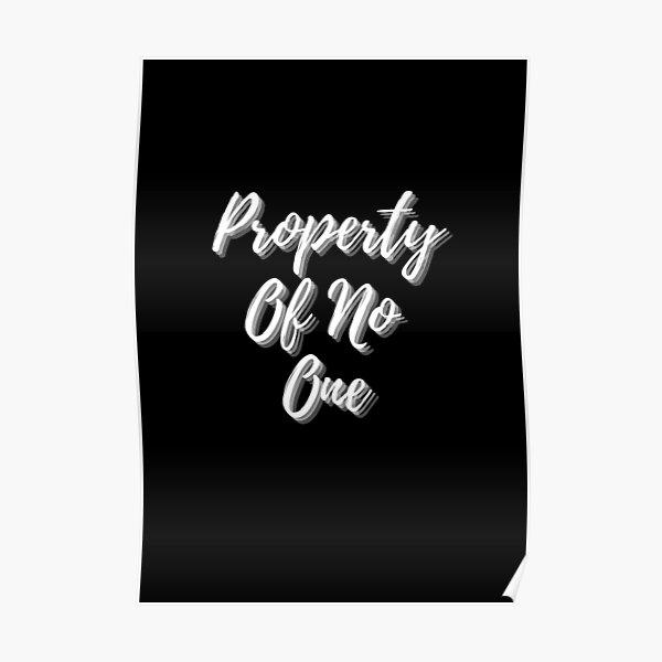 Eigentum von niemandem Poster
