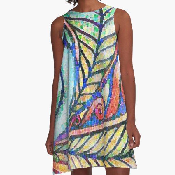 Maori Art Design A-Line Dress
