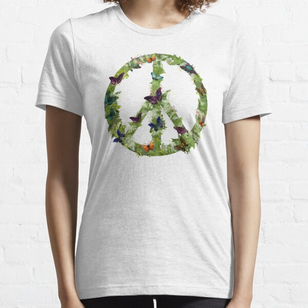 Butterfly Peace Sign Essential T-Shirt