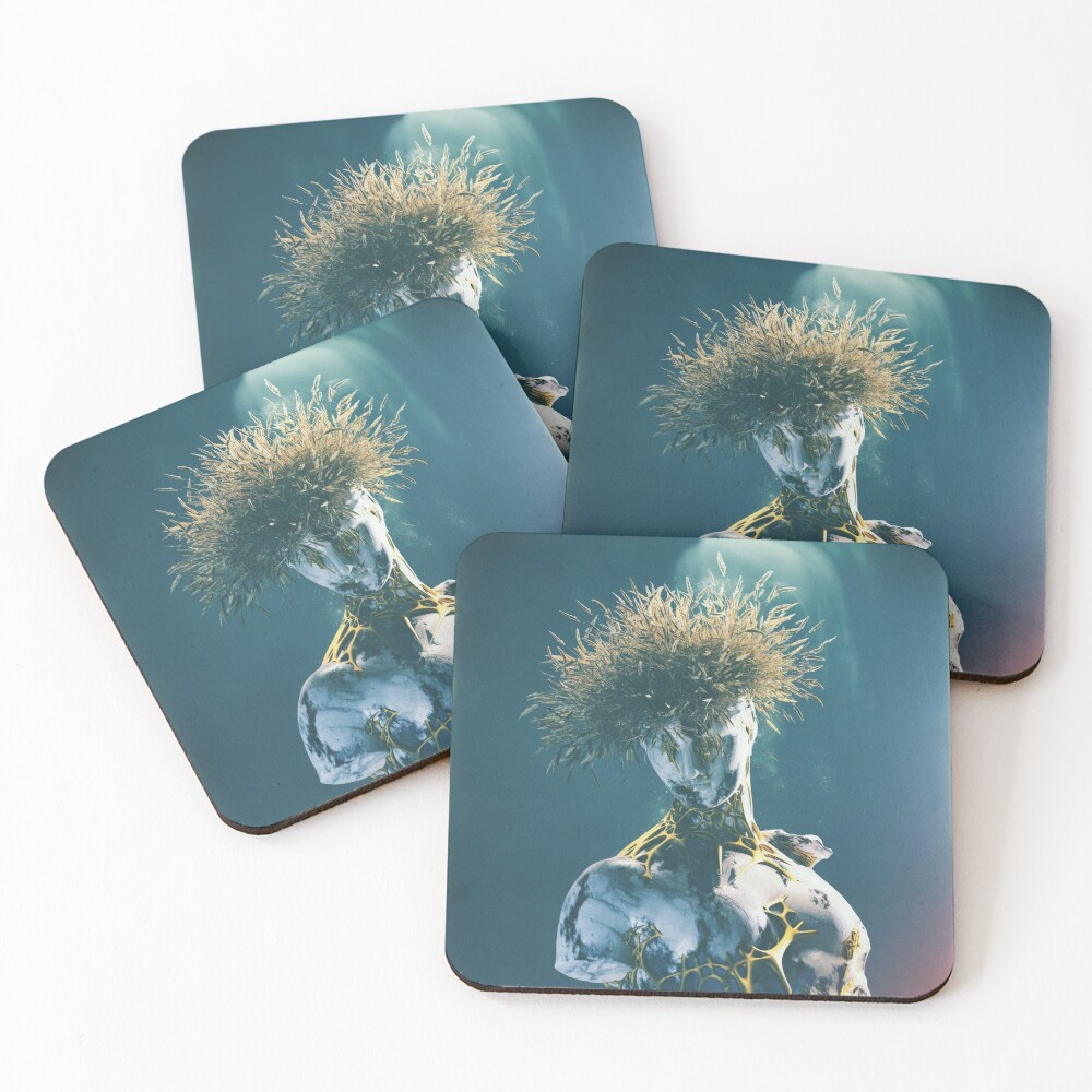 BLUE VIBRATION IN COLOR Coasters (Set of 4)