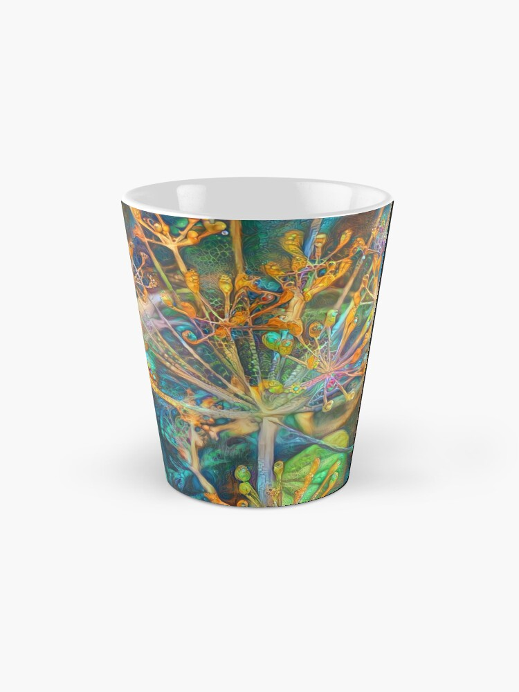 Alternate view of Floral deep dream Abstraction Mug