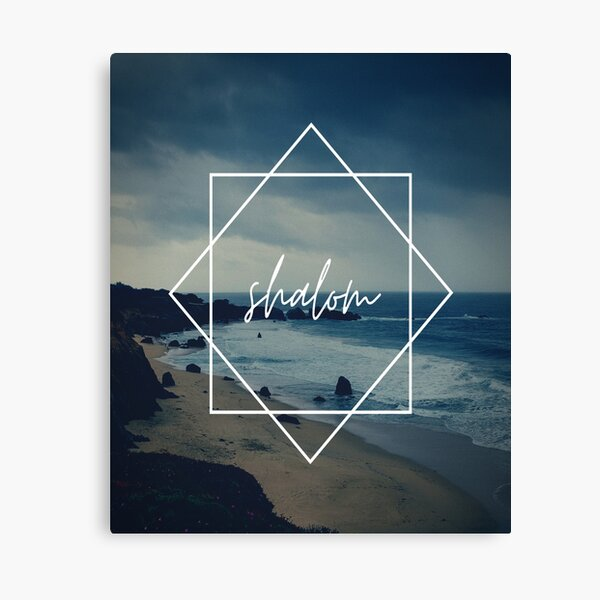 shalom  t-shirt and accessories, gratitude and beach. Canvas Print