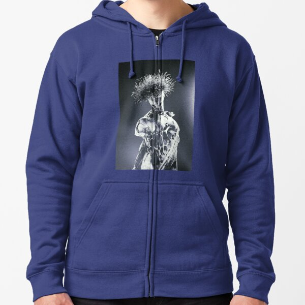BLUE VIBRATION IN BLACK & WHITE  Zipped Hoodie