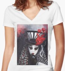 Hypnotic Women's Fitted V-Neck T-Shirt