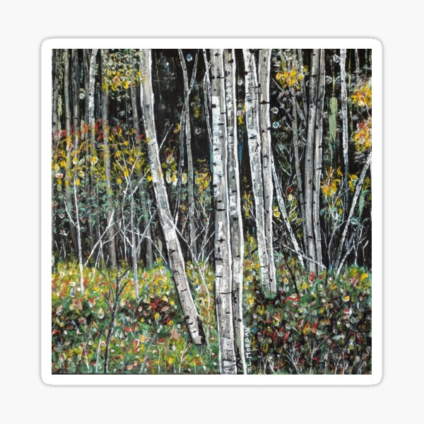 Ansels Trees original acrylic painting Sticker