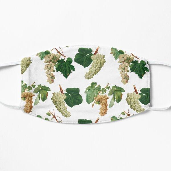 White Grapes On The Vine Pattern Flat Mask