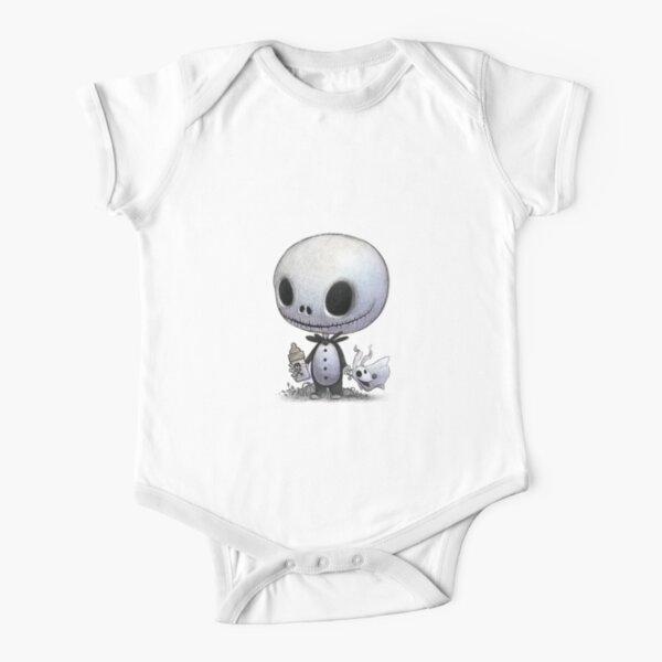 Baby Jack Skellington and zero  Short Sleeve Baby One-Piece