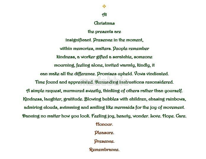 """Christmas Tree Shape Poem"" by msdebbie | Redbubble"