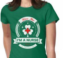 Kiss Me, I'm a Nurse - Irish Womens Fitted T-Shirt