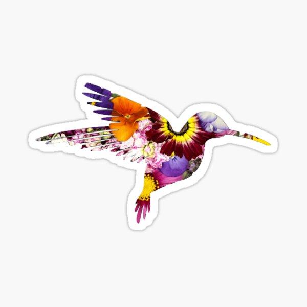 floral hummingbird Sticker