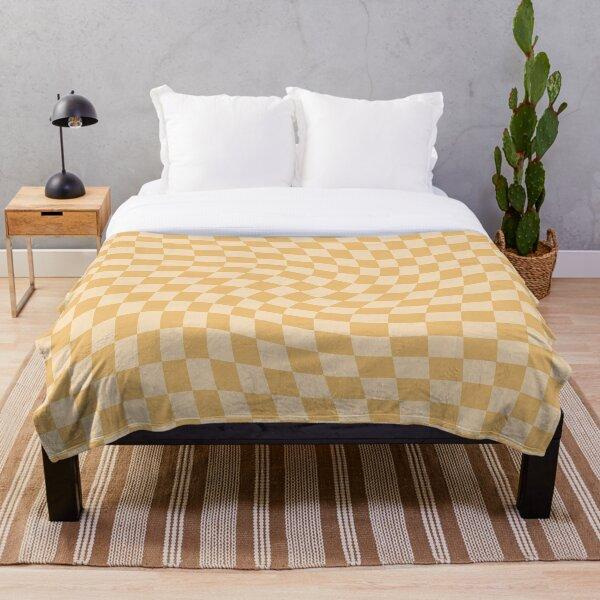 Check III - Mustard Twist Throw Blanket
