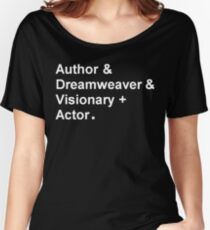 "Garth Marenghi ""Author & Dreamweaver & Visionary + Actor"" Women's Relaxed Fit T-Shirt"