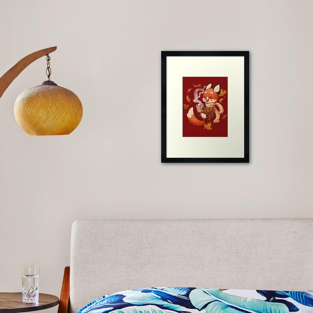 Cozy Fox Fall Framed Art Print