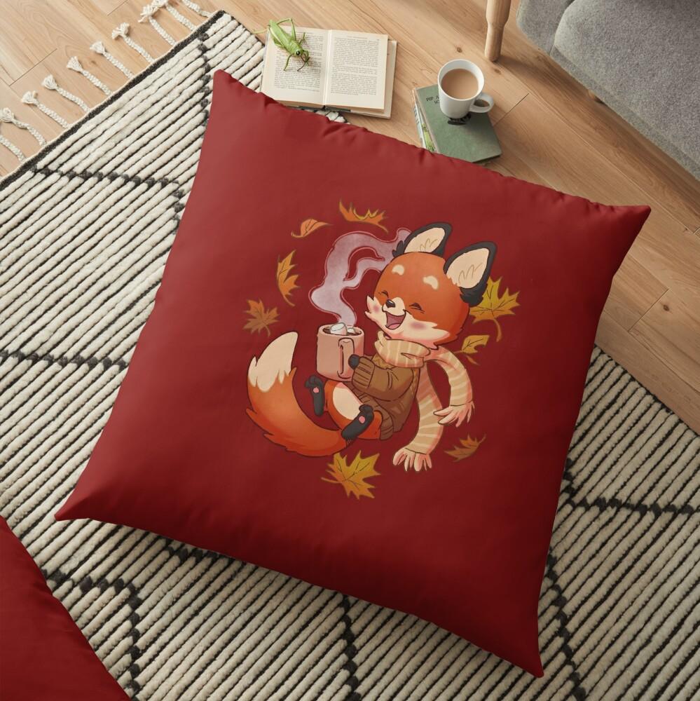 Cozy Fox Fall Floor Pillow