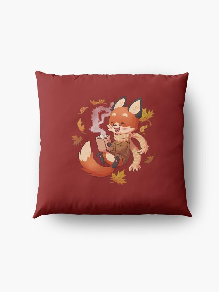 Alternate view of Cozy Fox Fall Floor Pillow