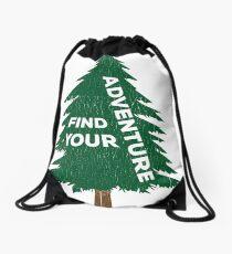 Find Your Adventure Drawstring Bag