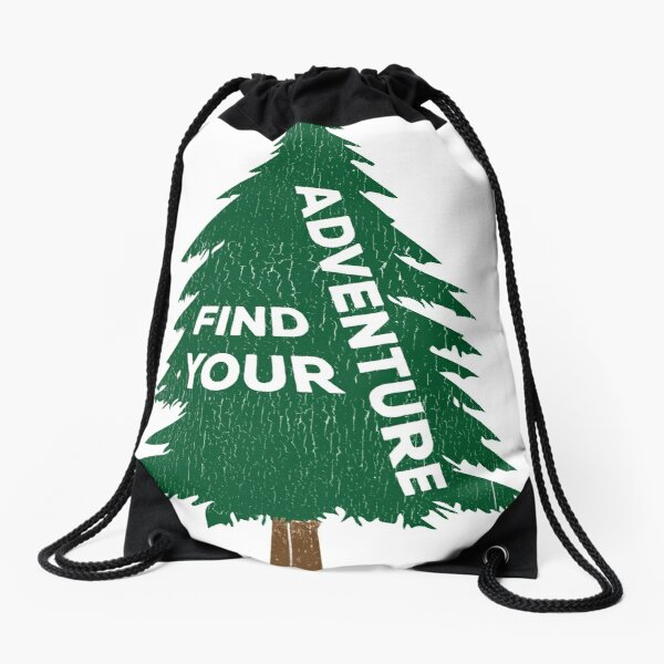 Find Your Adventure Drawstring Bag