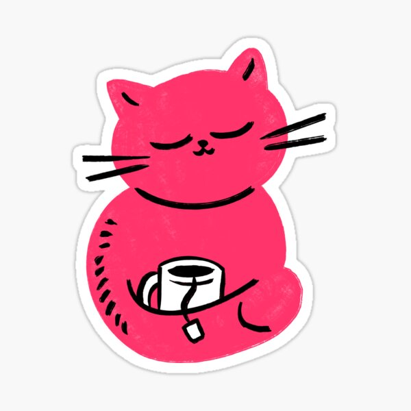 Careless Cat Glossy Sticker